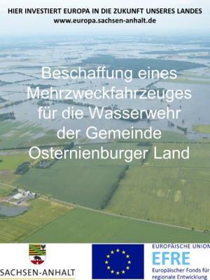 Foto zu Meldung: Beschaffung eines Mehrzweckfahrzeuges für die Wasserwehr der Gemeinde Osternienburger Land