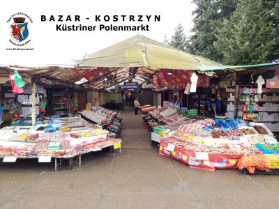Der Eingangsbereich zum Polenmarkt in Küstrin (Kostrzyn nad Odrą), Foto: Klaus Ahrendt