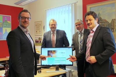 Von links: Die Bürgermeister Thomas Eckhardt, Burkhard Scheld, Achim Grosskurth und Ralf Hilmes