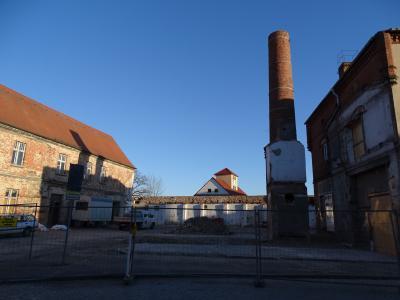 Vorschaubild zur Meldung: Aktueller Stand der Bauarbeiten am Kulturstandort klosterviertel Kyritz