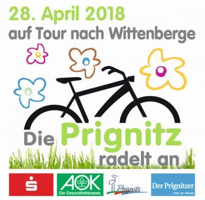 Vorschaubild zur Meldung: Die Prignitz radelt an - Sternfahrt in den Fahrradfrühling am 28.04.2018 von Pritzwalk nach Wittenberge