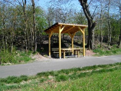 Sitzbankgruppe am Radweg Oberlengsfeld – Ransbach
