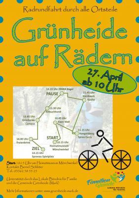 """Vorschaubild zur Meldung: """"Grünheide auf Rädern"""" - Anradeln am 27. April"""