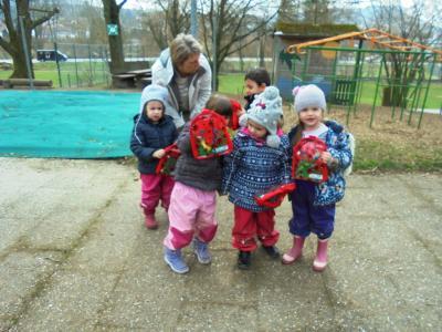 Vorschaubild zur Meldung: Osterfeier im Kindergarten Pfarracker