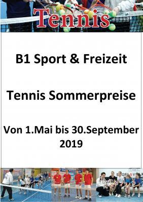 Vorschaubild zur Meldung: Tennis zum Sommerpreis von 1.05. bis 30.09.2019