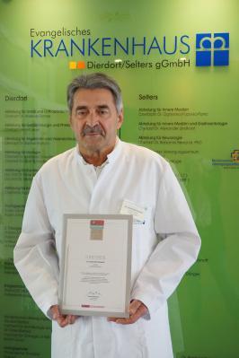 Dr. Reinhold Ostwald, Ärztlicher Direktor Evangelisches Krankenhaus Dierdorf/Selters