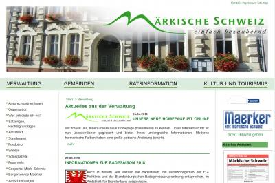 Foto zu Meldung: Neuer Internetauftritt des Amtes Märkische Schweiz