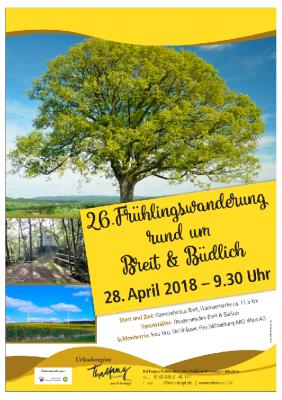 Vorschaubild zur Meldung: Frühlingswanderung am 28.04.2018