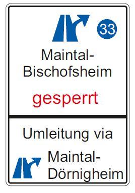 Umleitung beachten wegen Baugrundbohrungen an der BAB 66 Anschlussstelle Maintal-Bischofsheim (Grafik: Hessen Mobil)