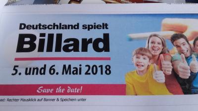 Vorschaubild zur Meldung: Deutschland spielt Billard 2018