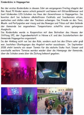 Bild der Meldung: Kinderdisko in Hoppegarten