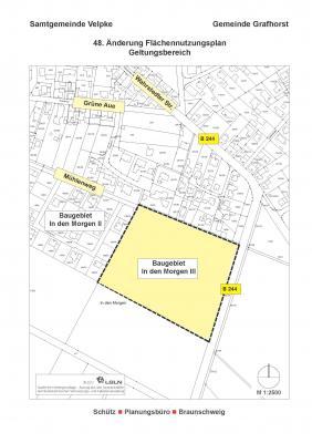 """Foto zur Meldung: 48. Änderung des Flächennutzungsplanes für das künftige Baugebiet """"In den Morgen III"""" in der Gemeinde Grafhorst"""