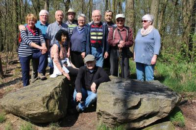 Foto zur Meldung: Feldsteine in der Märkischen Schweiz - Frühjahrswanderung der Rehfelder Heimatfreunde