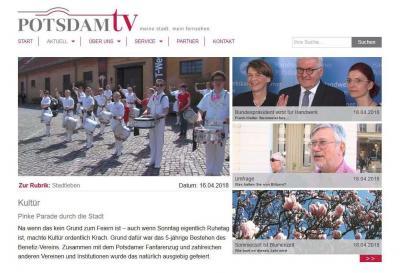 Foto zur Meldung: Potsdam TV berichtet über Kultür Geburtstag