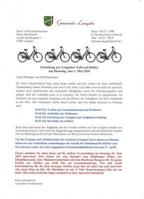 Foto zu Meldung: Die Einladung zur Langelner Fahrrad-Rallye
