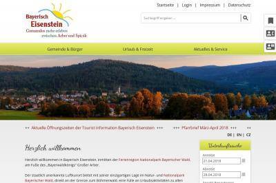 Die neue Eisensteiner Homepage bietet Informatives für Urlauber und Einheimische gleichermaßen.