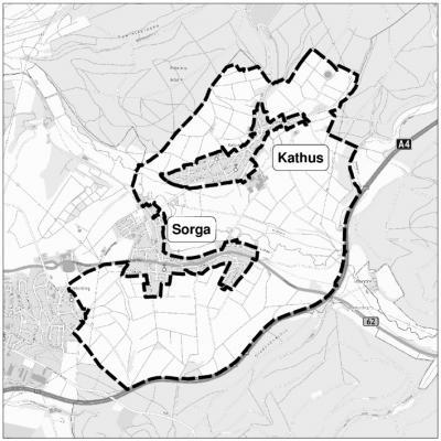 Flurbereinigungsverfahrens im Bereich der Stadtteile Kathus und Sorga der Kreisstadt Bad Hersfeld