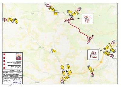 Vorschaubild zur Meldung: K 28 Sontra: Fahrbahninstandsetzung zwischen Stadthosbach und Donnershag