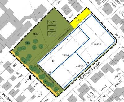 Lageplan der Bebauungsplanänderung in der Fassung vom 19. Januar 2018