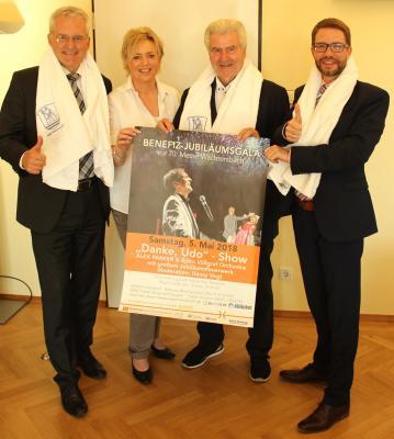 Vorschaubild zur Meldung: Messe-Schirmherr Frank Lehmann und Landrat Thorsten Stolz freuen sich auf die Udo-Jürgens-Show