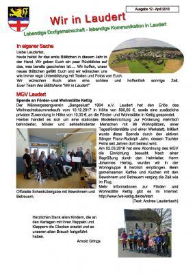 Vorschaubild zur Meldung: Infoblatt Wir in Laudert - Ausgabe 12