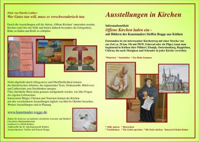 """Flyer """"Ausstellung Offene Kirchen"""""""