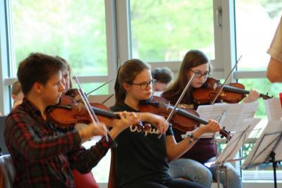 Foto zur Meldung: Orchester für einen Tag