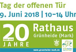 Vorschaubild zur Meldung: Tag der offenen Tür im Rathaus Grünheide (Mark) am 9. Juni