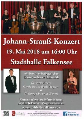 Am 19. Mai spielt das Brandenburgische Konzertorchester Eberswalde Werke von Johann Strauß in der Stadthalle.