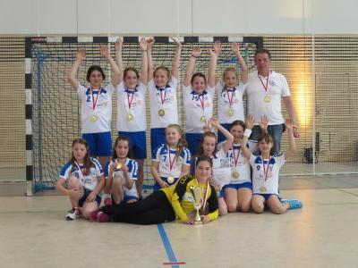Foto zur Meldung: E-1-Jugend: Medaillenübergabe für den neuen Kreismeister der Saison 2017/2018