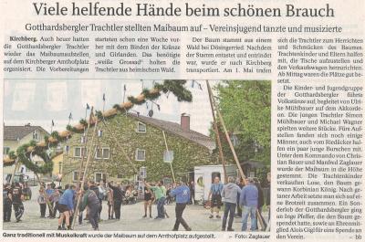 Auszug Der Bayerwald Bote 08.05.2018