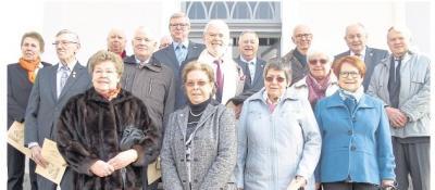 Foto zur Meldung: Diamantene Konfirmation in der Rundkirche gefeiert