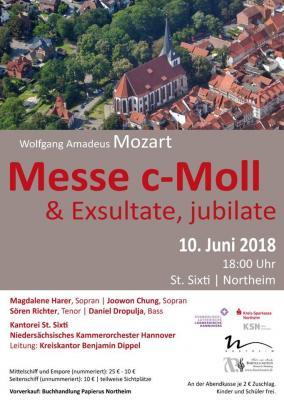 Vorschaubild zur Meldung: 10. Juni um 18:00 Uhr in St. Sixi > Wolfgang Amadeus Mozart: c-Moll-Messe