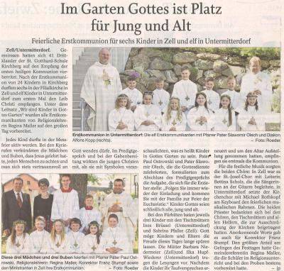 Auszug Der Bayerwald Bote 15.05.2018