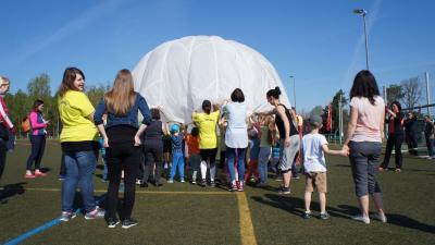 Foto zur Meldung: Sportfest der KITA Spatzennest