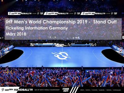 Foto zu Meldung: MÄNNER-WM 2019: TICKETINFORMATIONEN / VEREINSANGEBOT