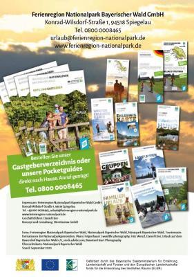 Printprodukte der Ferienregion Nationalpark Bayerischer Wald