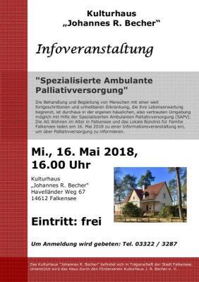 """Die Informationsveranstaltung beginnt um 16 Uhr im Kulturhaus """"Johannes R. Becher"""" (Havelländer Weg 67). Der Eintritt ist frei."""