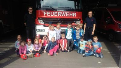Vorschaubild zur Meldung: Kindergarten zu Besuch bei der Freiwilligen Feuerwehr Hörstel