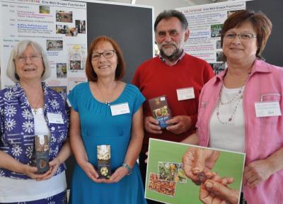 Von Anfang an aktiv in der Puschendorfer Eine-Welt-Gruppe: (v.l.) Heidi Mährlein, Ruth Klöber, Georg Plochmann und Gini Dorsch (es fehlt Vereinschefin Doris Lodderstaedt).