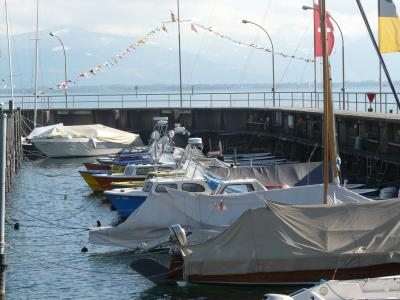 Fischerhafen Wasserburg - Boote liegen brach