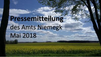 Foto zur Meldung: Pressemitteilung des Amtes Niemegk - Mai 2018
