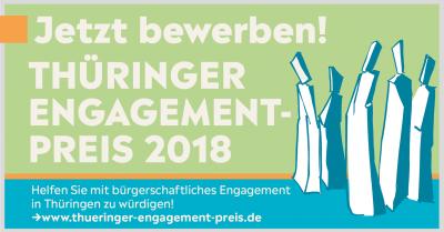 Vorschaubild zur Meldung: Thüringer Ehrenamtsstiftung vergibt den 6. Engagement-Preis