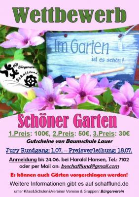 Foto zur Meldung: Wettbewerb - Schönster Garten 2018