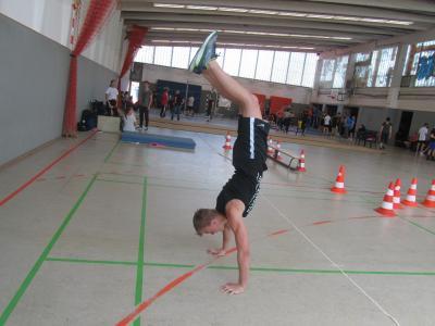 Foto zur Meldung: William kam, sah und siegte bei der 19. Auflage des Fitnesswettbewerbs der weiterführenden Schulen