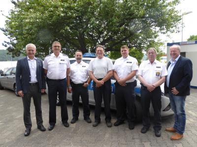 Vorschaubild zur Meldung: Rudolf Wahn wird als langjähriger Mitarbeiter des Freiwilligen Polizeidienstes verabschiedet
