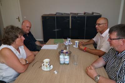 Foto zu Meldung: Antrittsbesuch von Dr. Kirsten Tackmann bei Bürgermeister Dr. Ronald Thiel