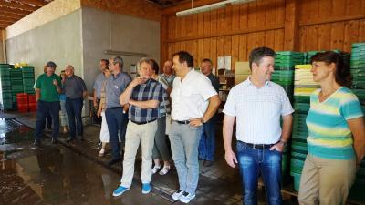 Foto zur Meldung: Sallgast ist Gastgeber des Landratsbesuchs Elbe-Elster