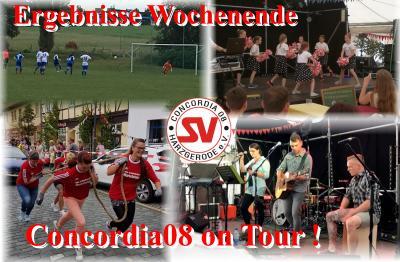 Foto zur Meldung: Ergebnisse Wochenende / Concordia 08 on Tour !