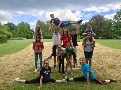 Foto zur Meldung: Die Turnabteilung beim Landeskinderturnfest
